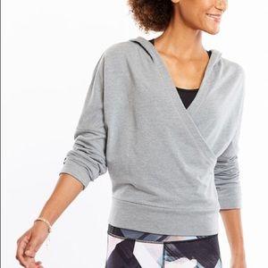 Lucy Gray Crossed Hooded Sweatshirt size M